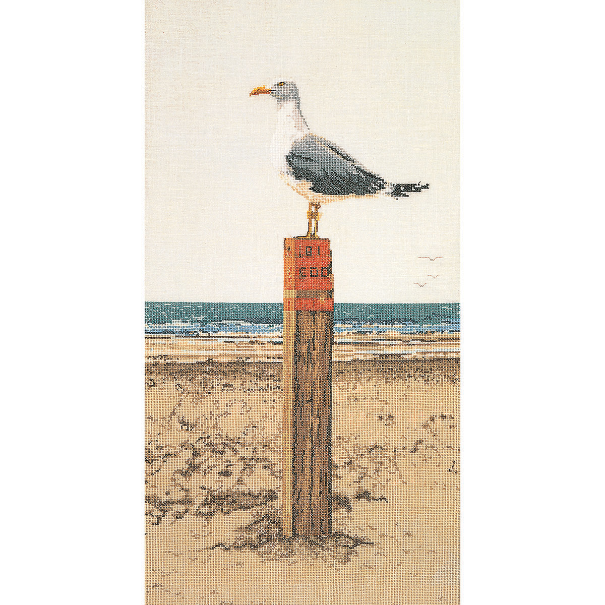 Thea Gouverneur counted-cross-stitch Kit Seagull On Aida