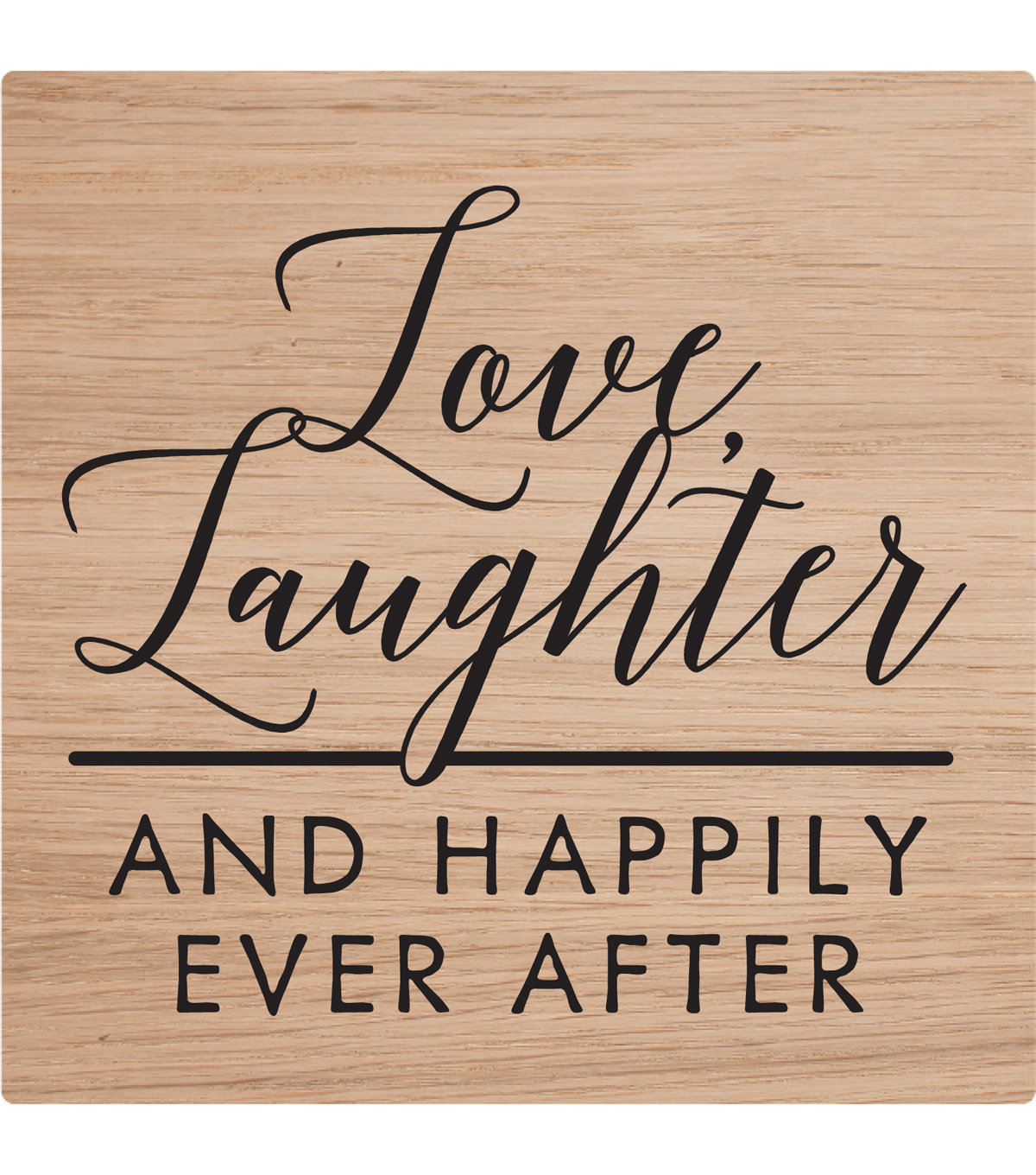 American Crafts Stamp-Love, Laughter & Happily Ever After