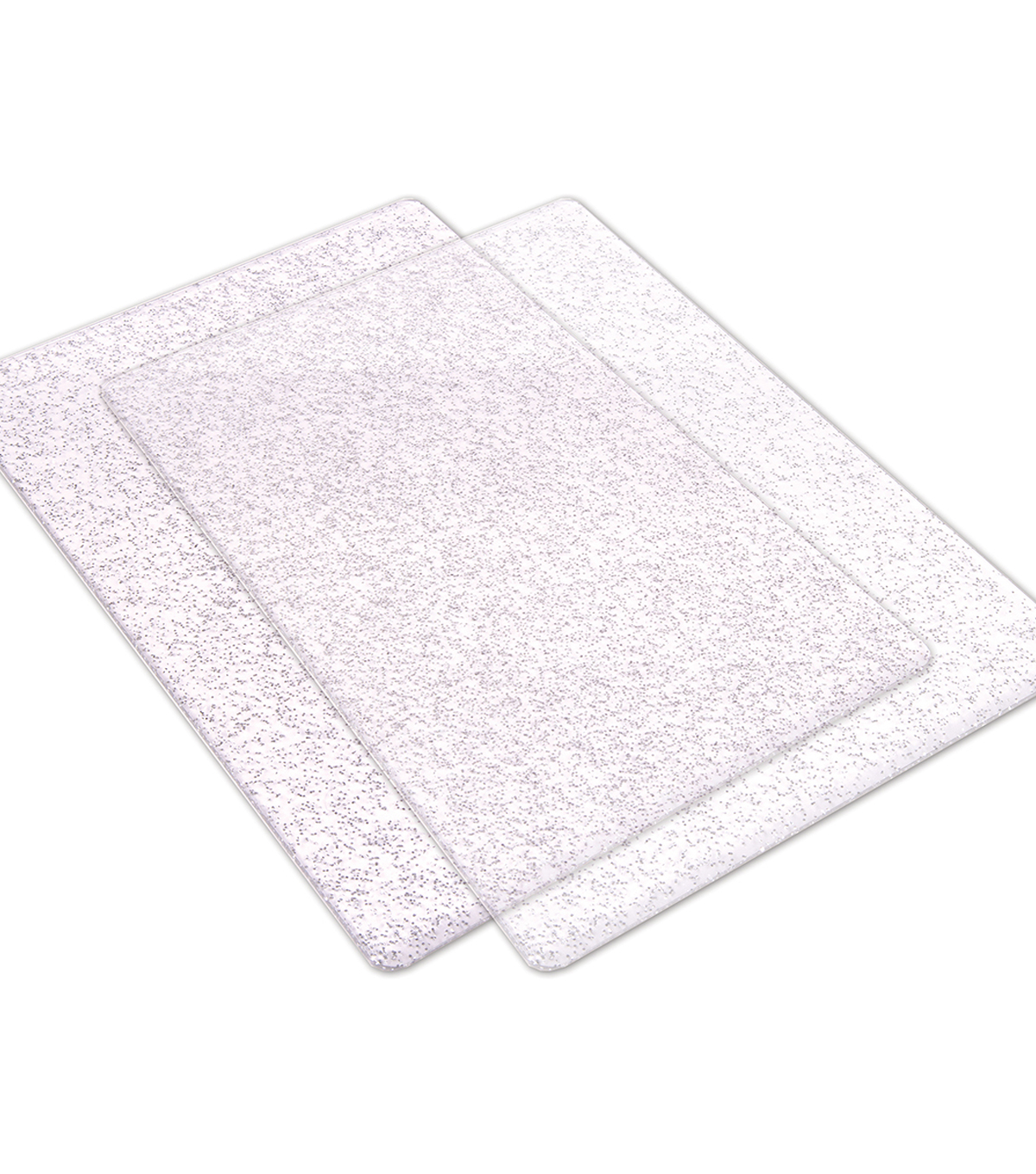 Sizzix Big Shot Cutting Pads 1 Pair-Clear With Silver Glitter-Standard