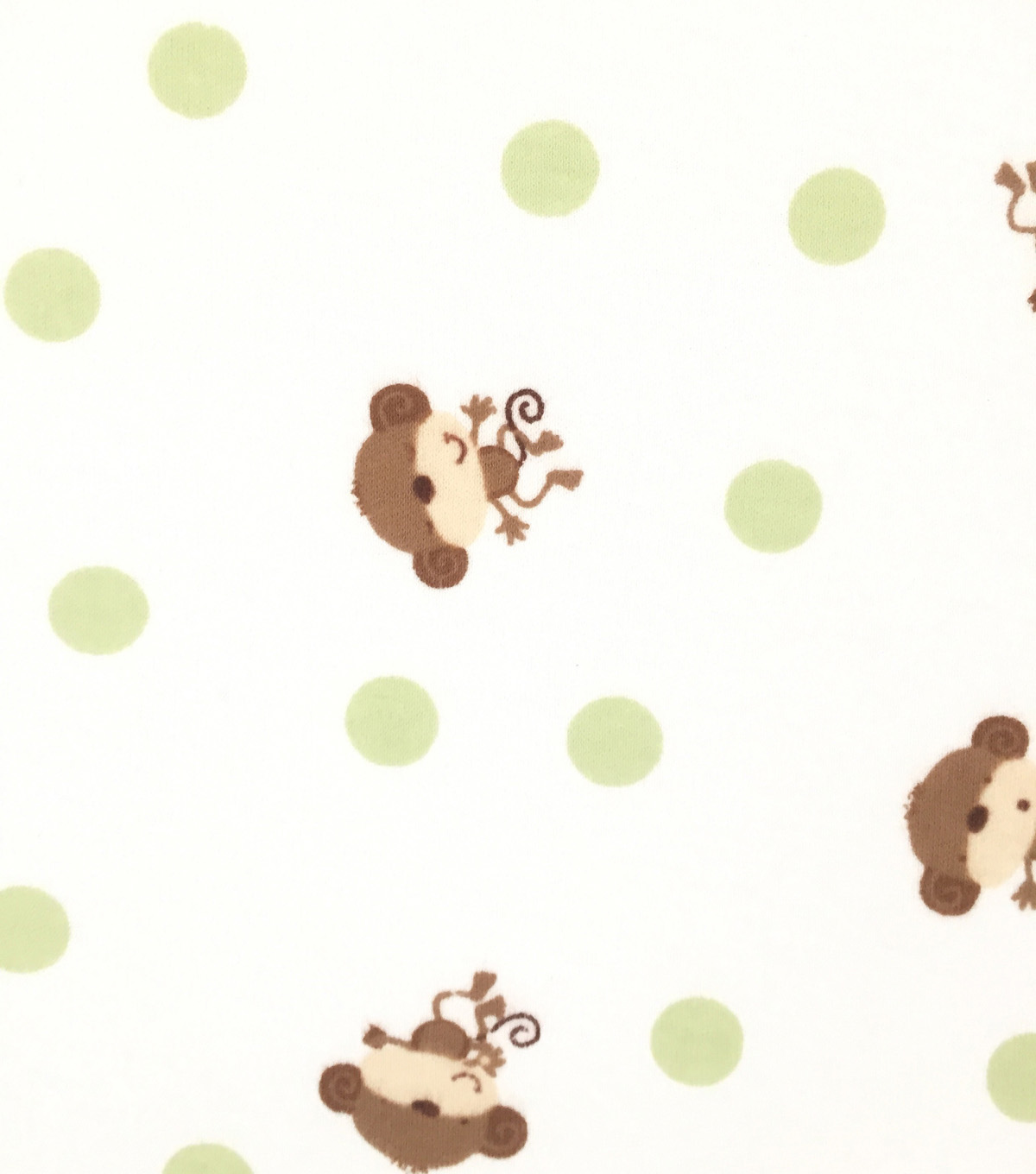 Doodles Cotton Fabric -Monkey and Dots