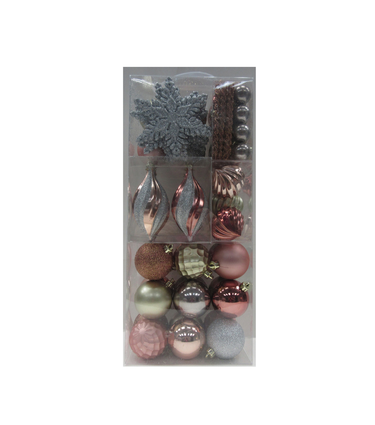 Maker S Holiday Christmas Boxed Ornaments Rose Gold