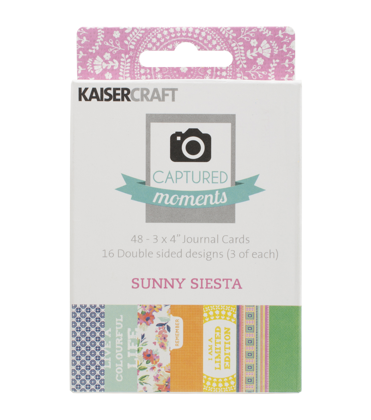 Kaisercraft Captured Moments Sunny Siesta Double-Sided Cards 3\u0027\u0027x4\u0027\u0027