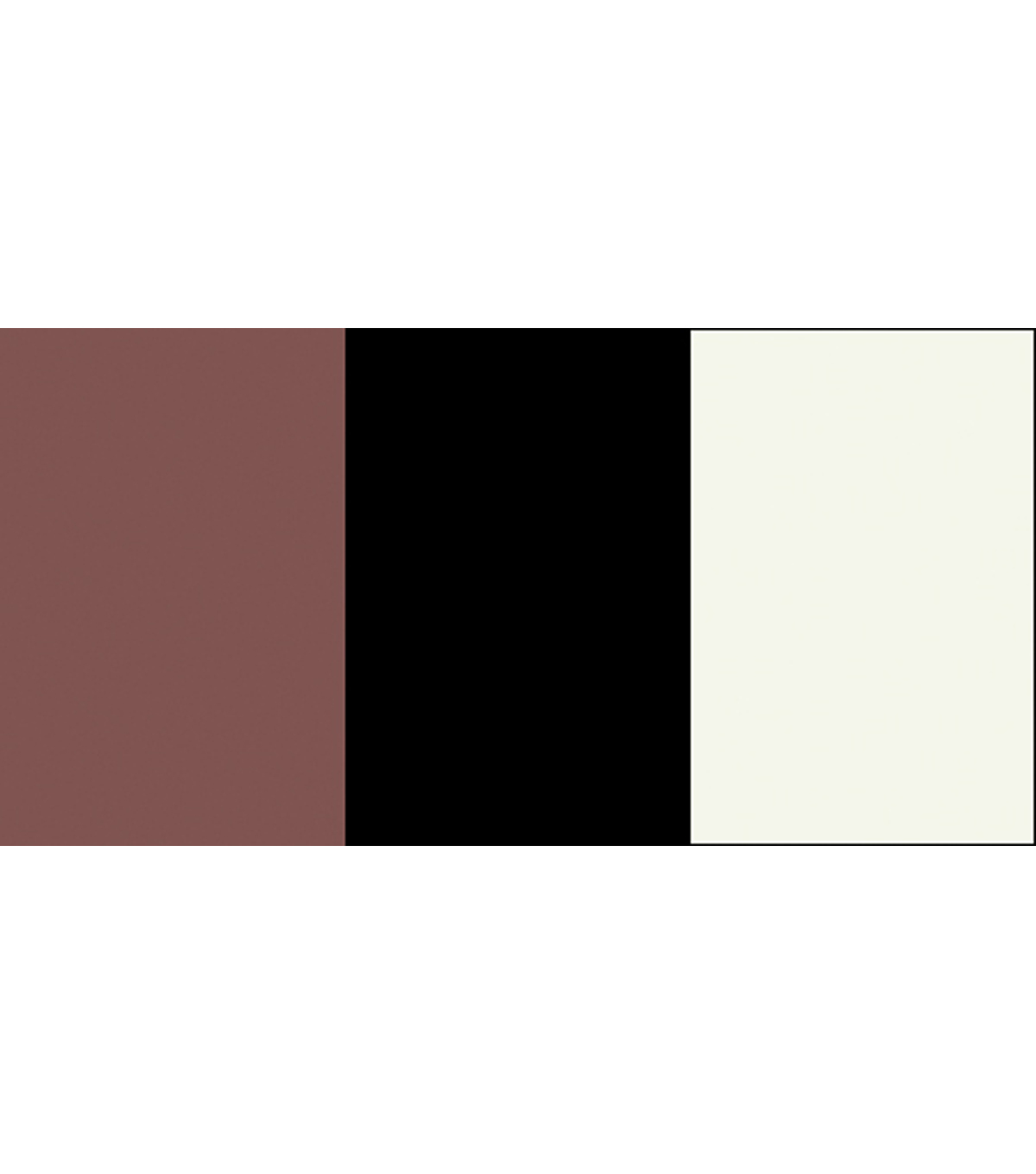 Artista II Color Set 8 Ounces 3/Pkg-Neutral Colors Black/Brown/White
