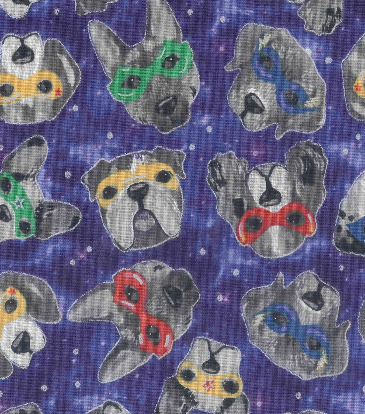Novelty Cotton Fabric-Superhero Space Dogs
