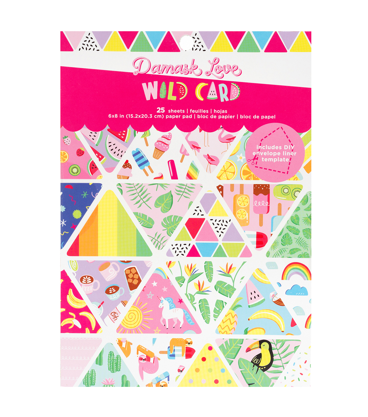 Damask Love 6\u0022x8\u0022 Paper Pad-Wild Card