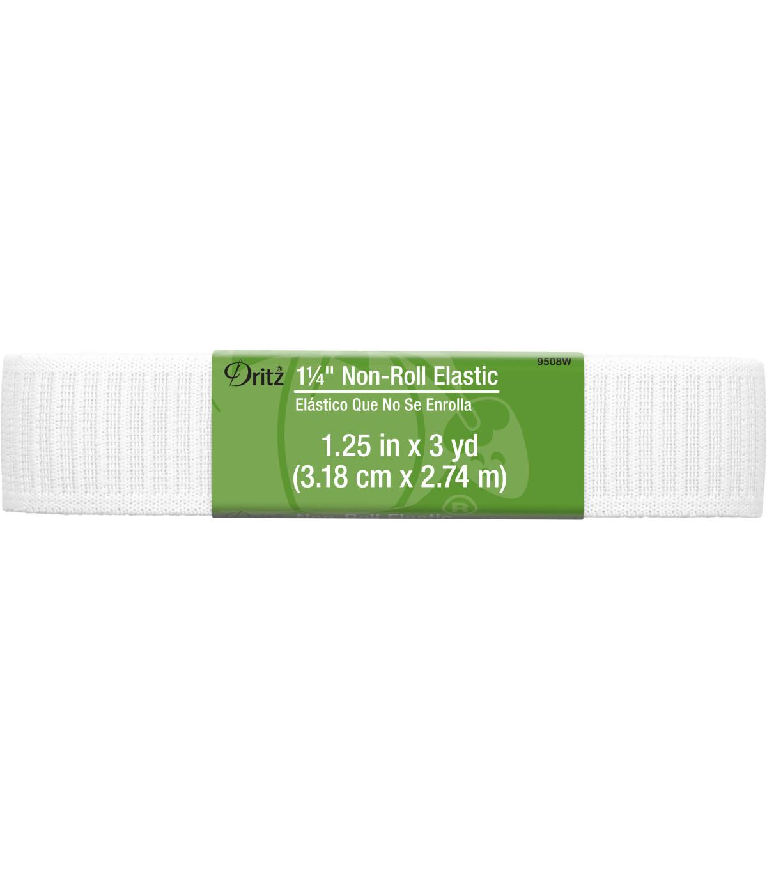 dc47ef9019 Dritz 1 1 4 u0022 Ribbed Nonroll Elastic White