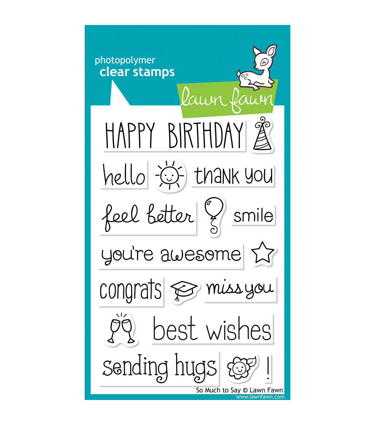 Lawn Fawn Clear Stamps 4\u0022X6\u0022-So Much To Say