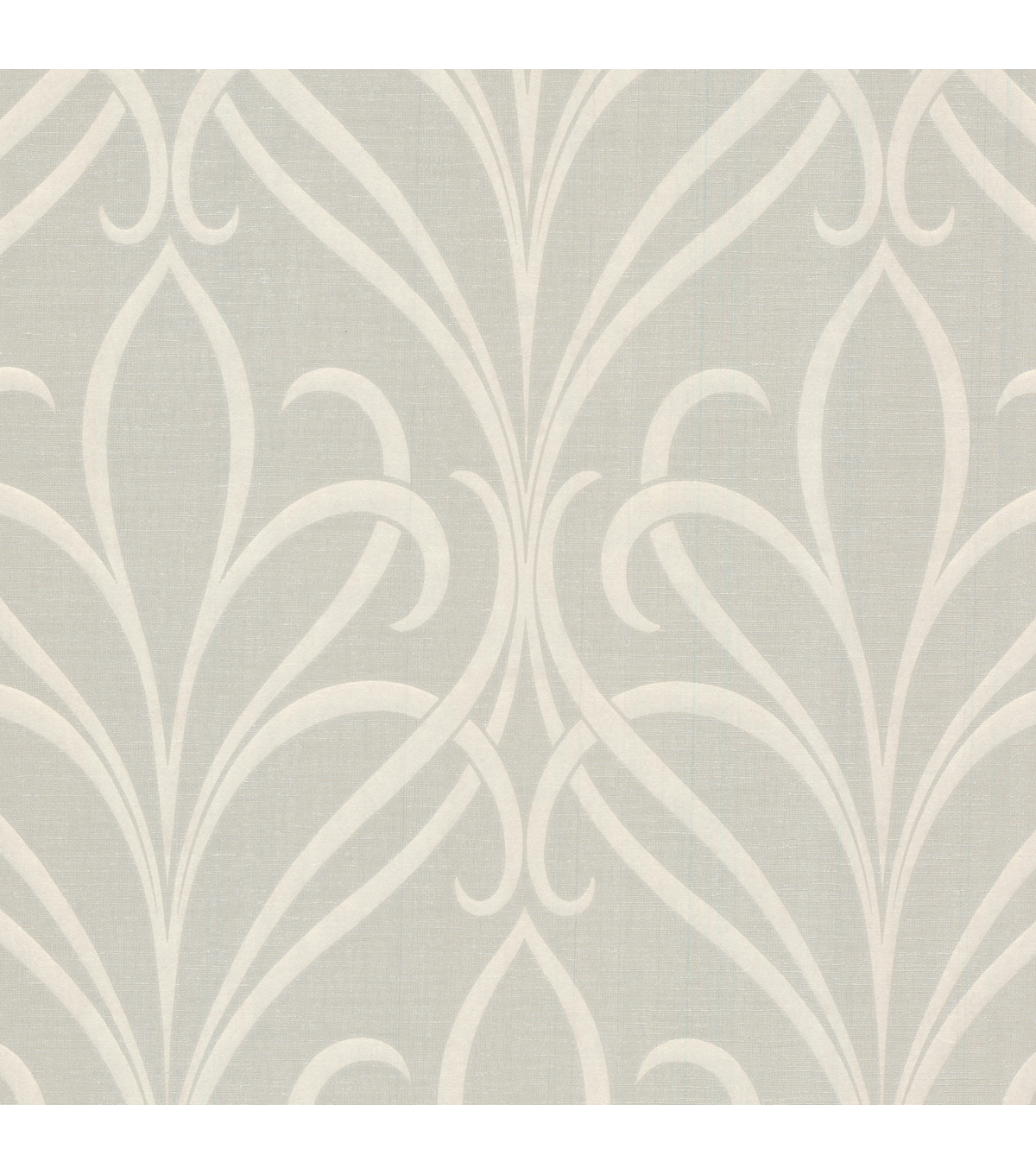 Lalique Taupe Nouveau Damask Wallpaper Sample