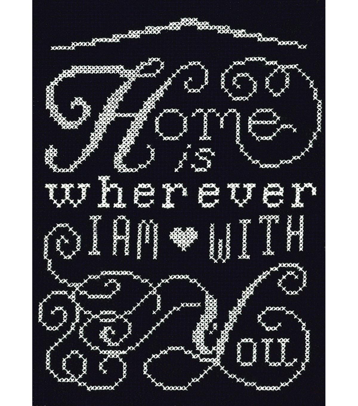Design Works Crafts 5\u0027\u0027x7\u0027\u0027 Counted Cross Stitch Kit-Home Chalkboard