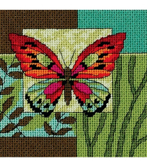 Dimensions Mini Needlepoint Kit Butterfly Impression