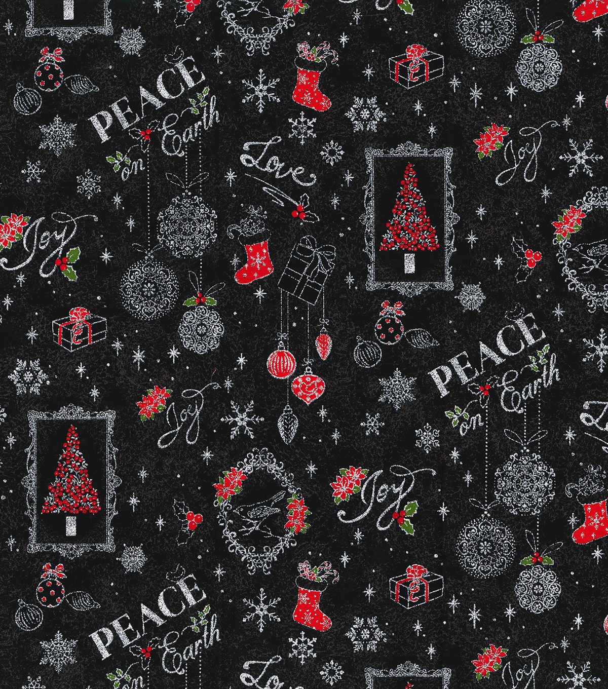 Christmas Cotton Fabric-Stamped Holiday Decorations