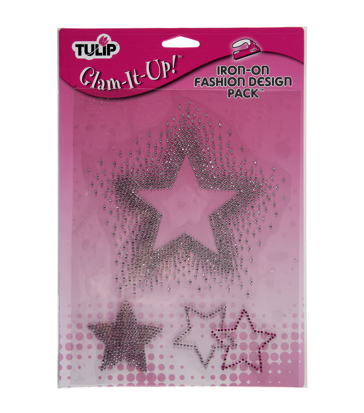 Tulip Glam-It-Up! Iron-On-Stars Pack/Large