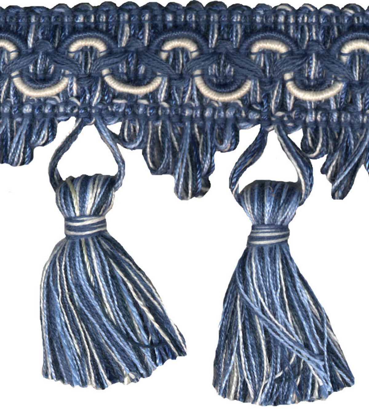 Wav 2-3/4 Tassel Fringe 12yd Nautical