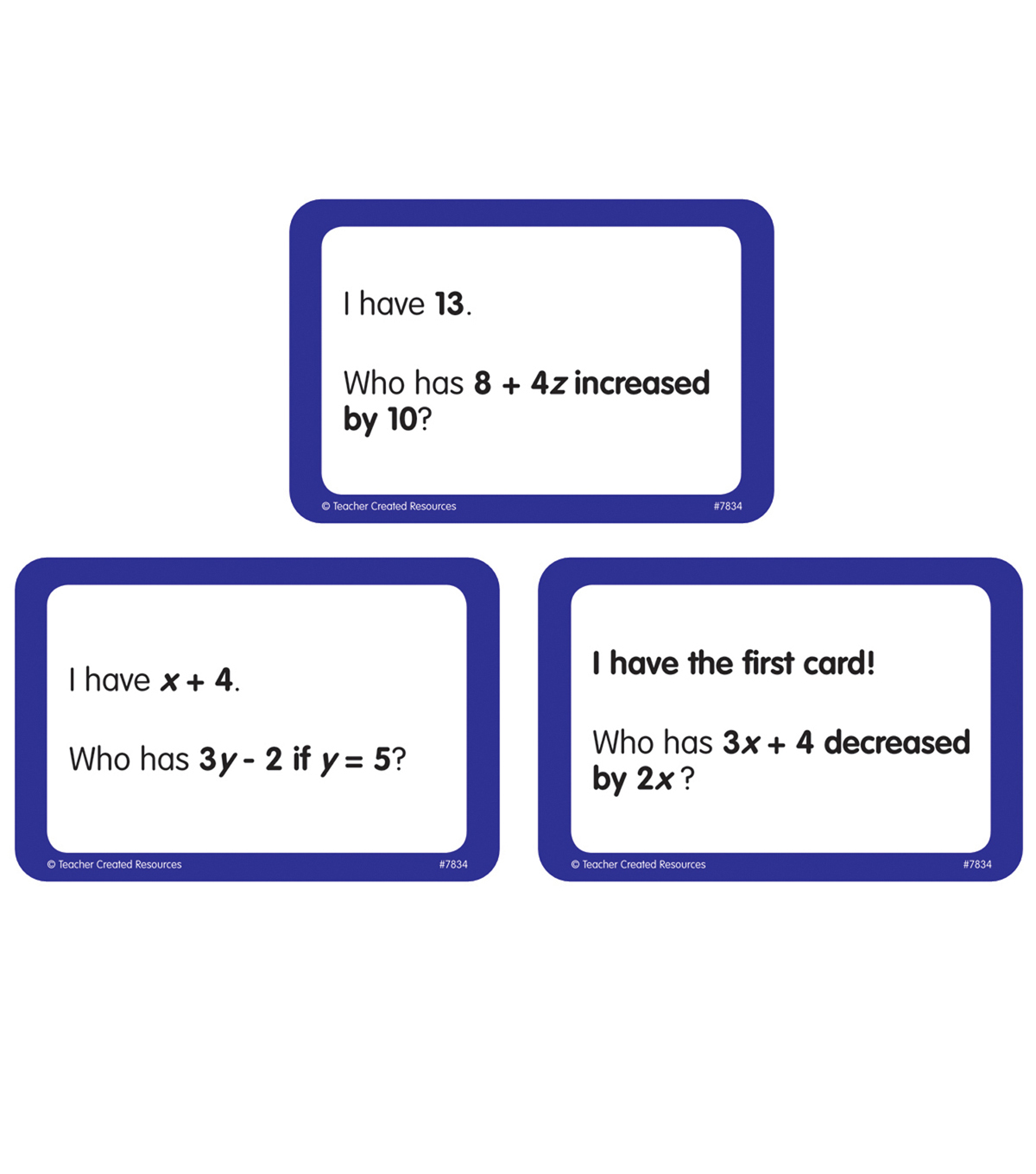 Math 5-6 Teacher Created Resources I Have/… Who Has/… 7834