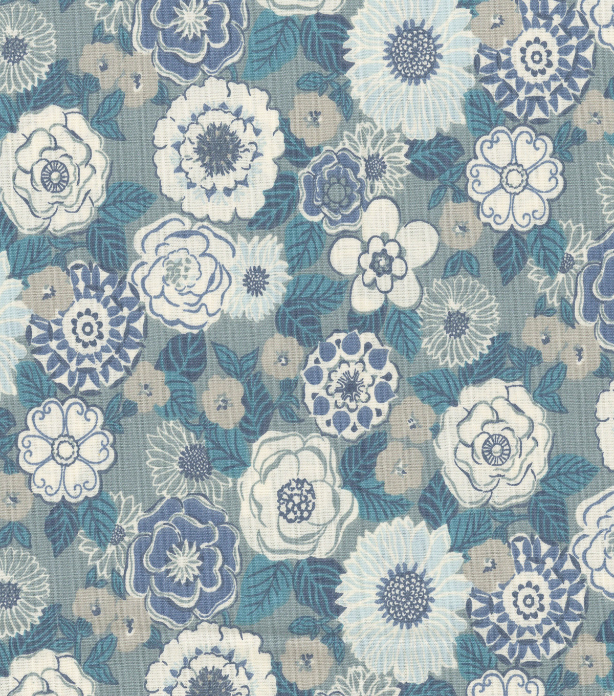 Keepsake Calico Cotton Fabric -Claribel Teal