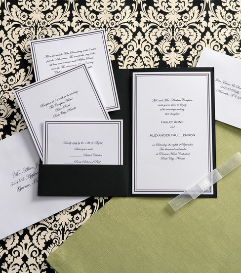 Wilton Elegance Invitation Kit Black White
