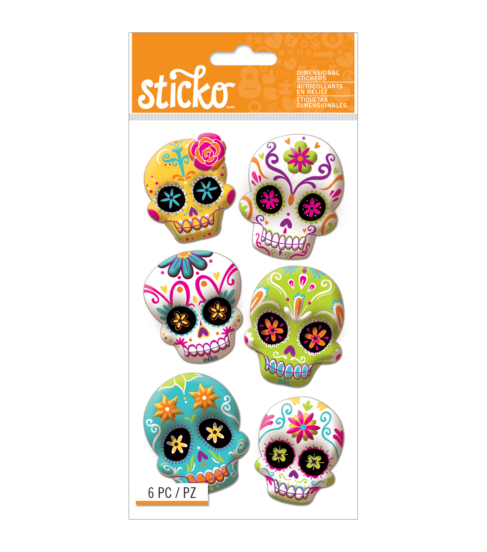 Sticko?? Sugar Skull Stickers - Halloween Stickers   JOANN