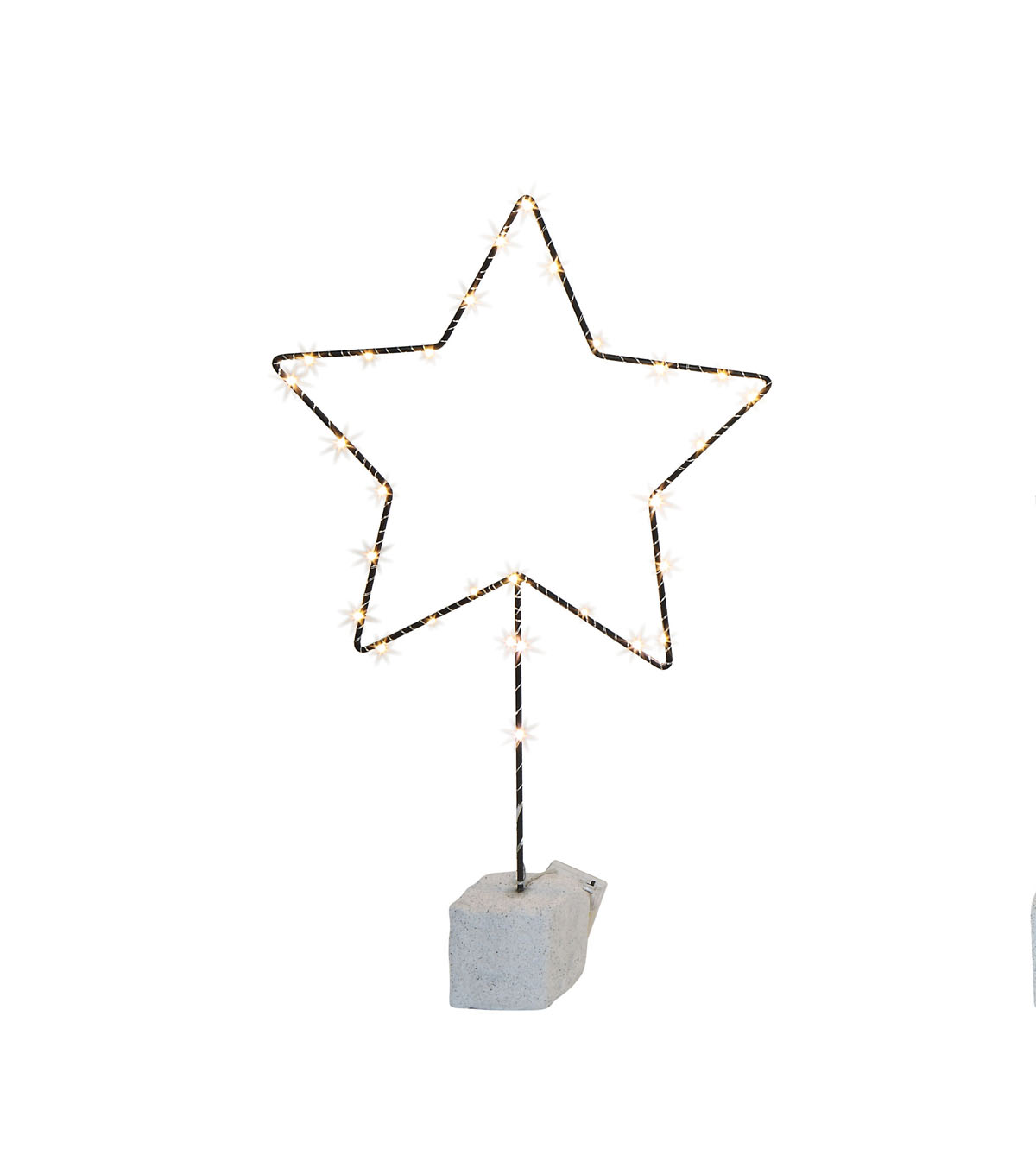 Christmas Star Shape Decor with 30 LED Lights