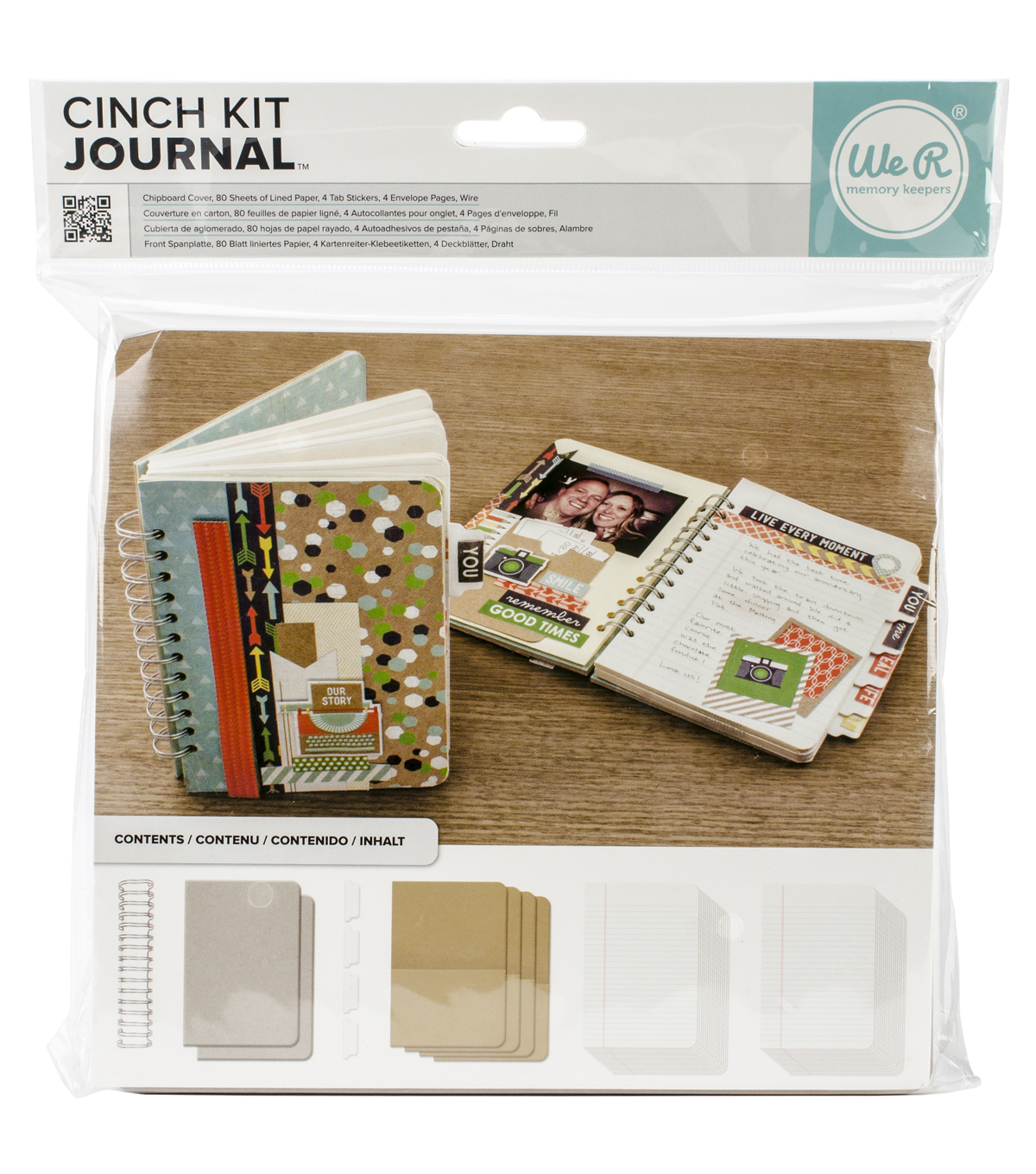 Cinch Journal Kit 8\u0022X9\u0022-Covers, Pages & Wire