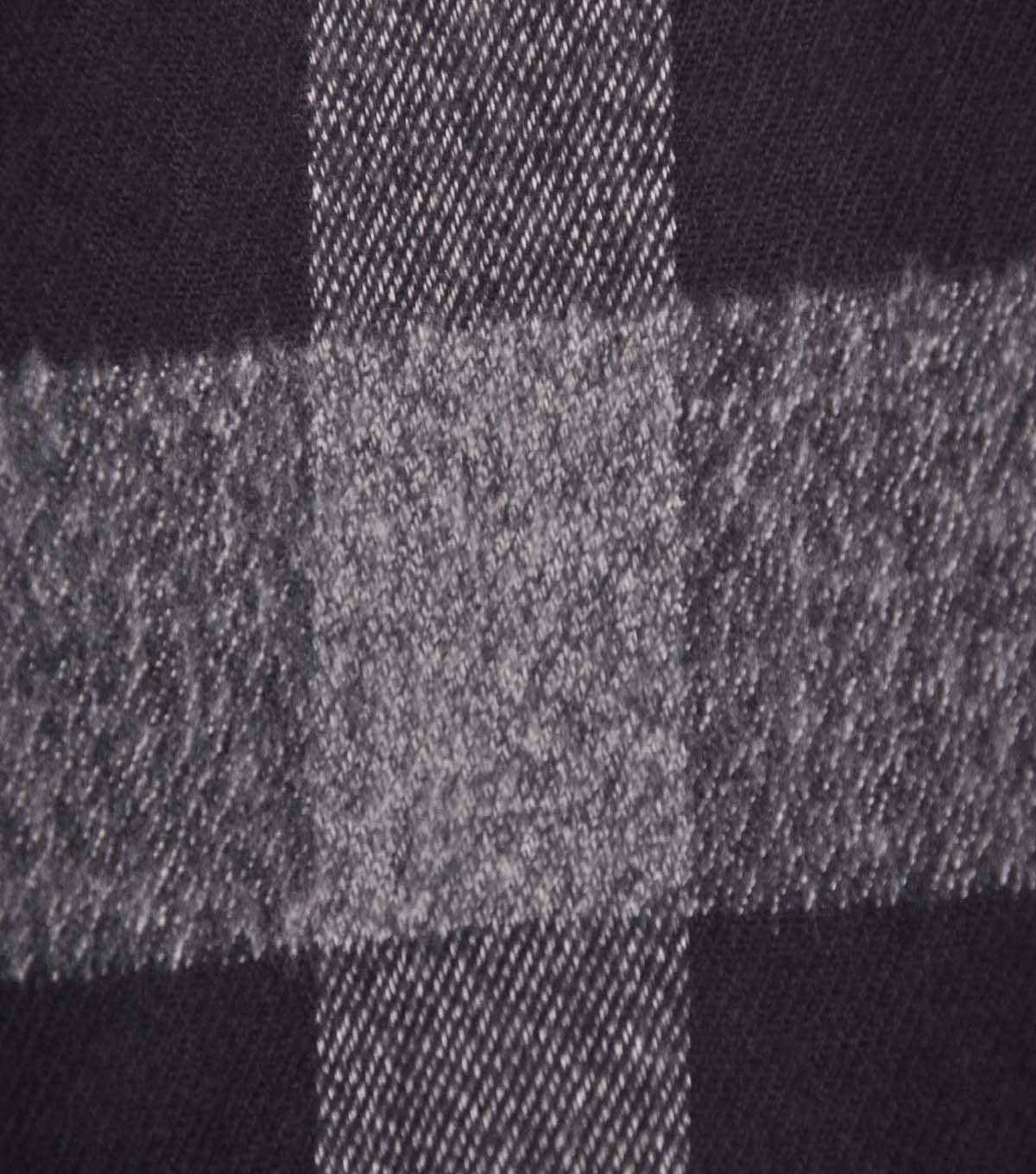 Plaiditudes Brushed Cotton Fabric -Check Black Gray