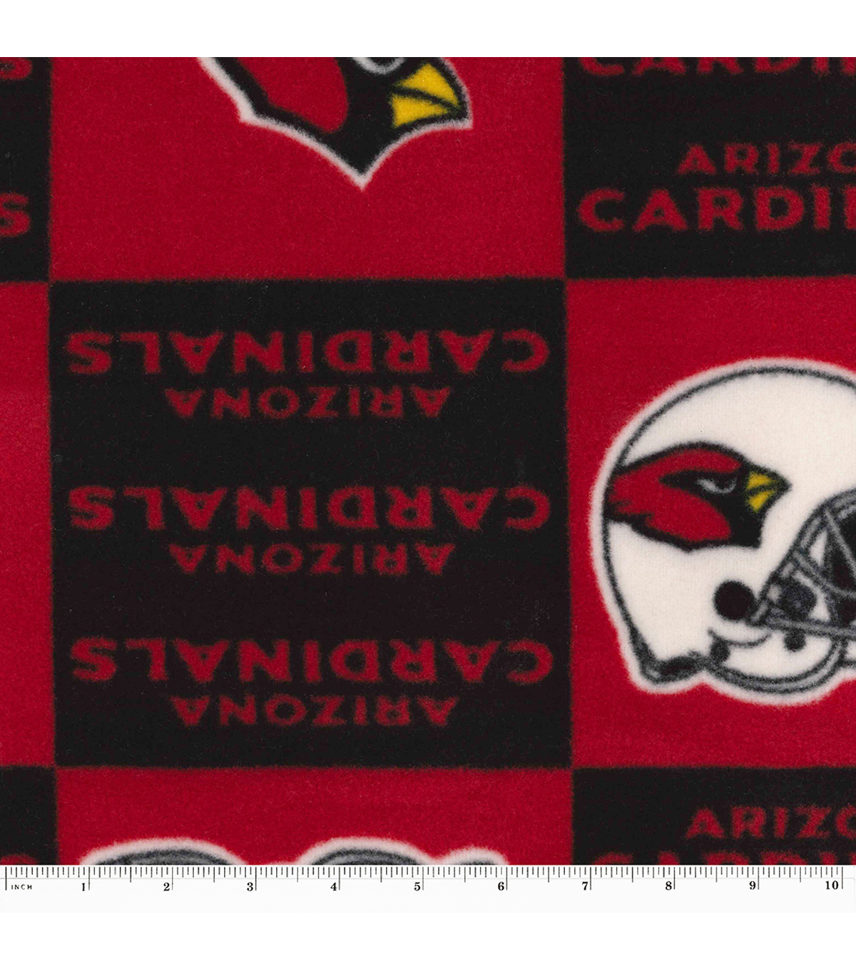 Arizona Cardinals Fleece Fabric -Block