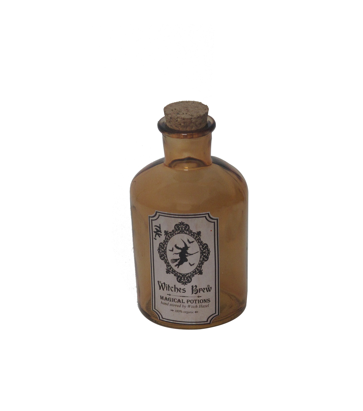 Maker\u0027s Halloween Small Orange Potion Bottle-Witches Brew