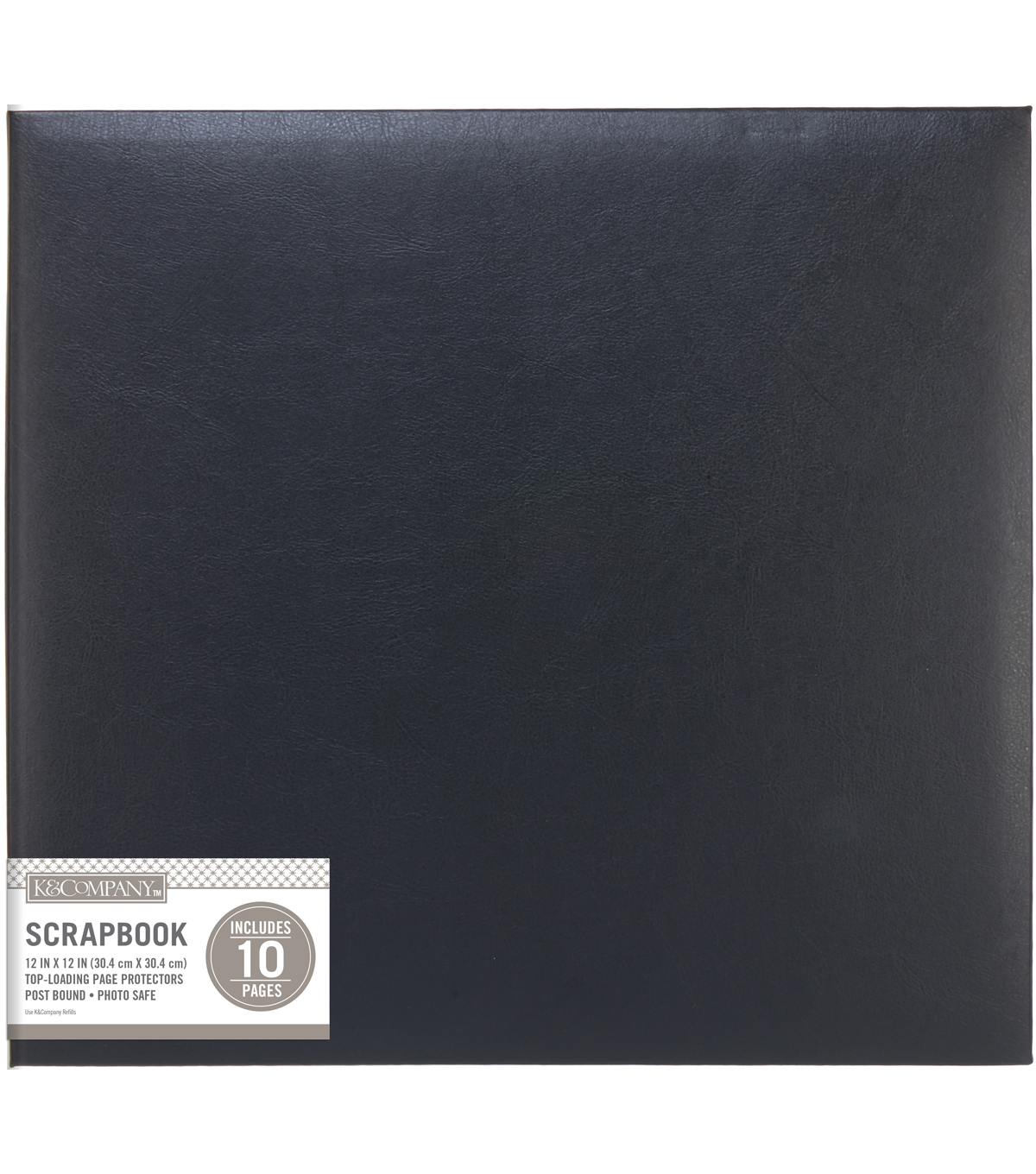 Kcompany Black Faux Leather 12x12 Basic Scrapbook Joann