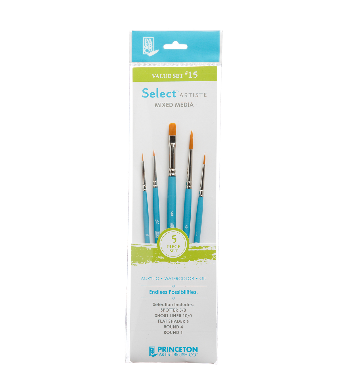 Princeton Select 5 Piece Brush Value Set 15