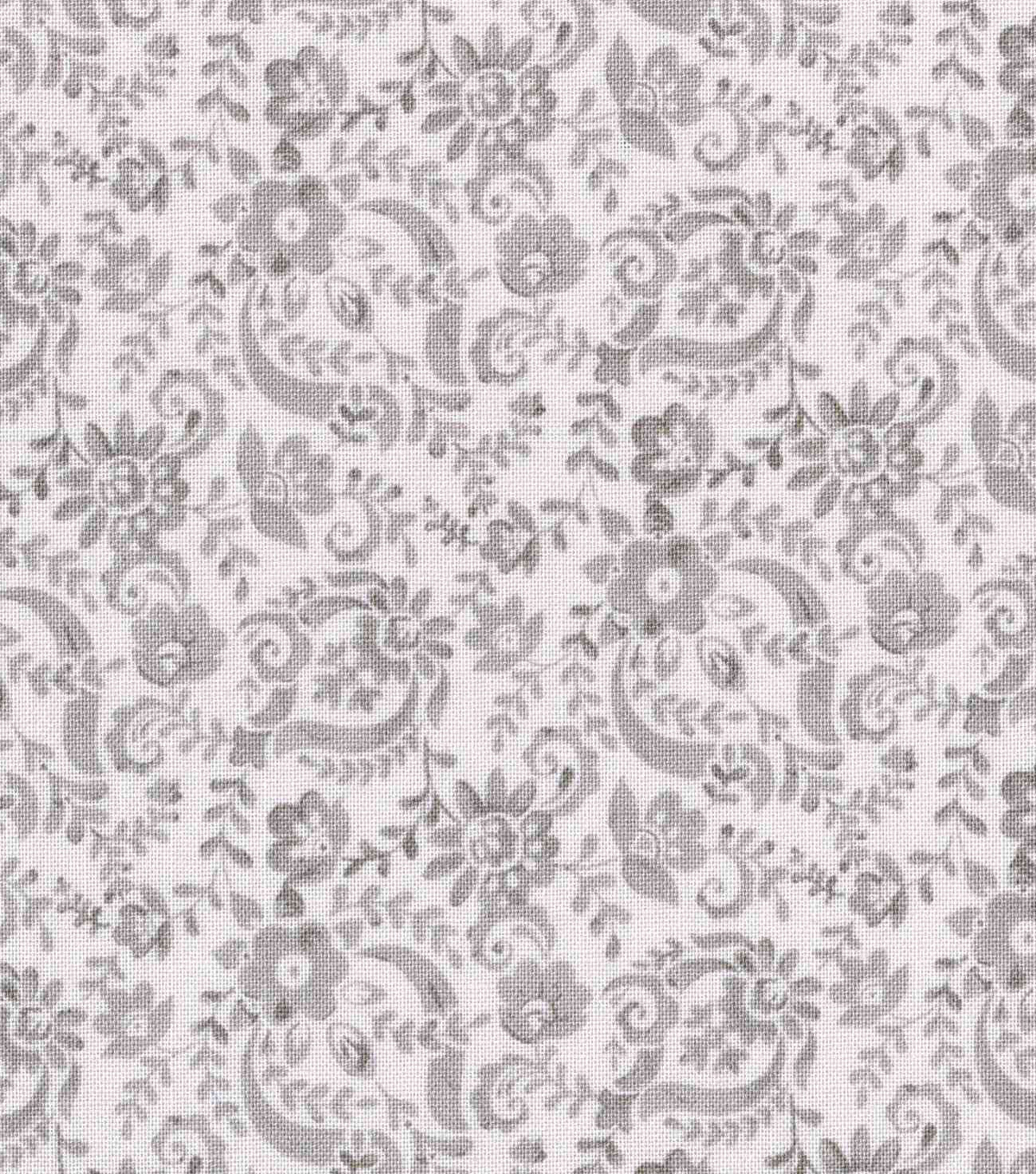 Keepsake Calico Cotton Fabric -Gray Floral Scroll