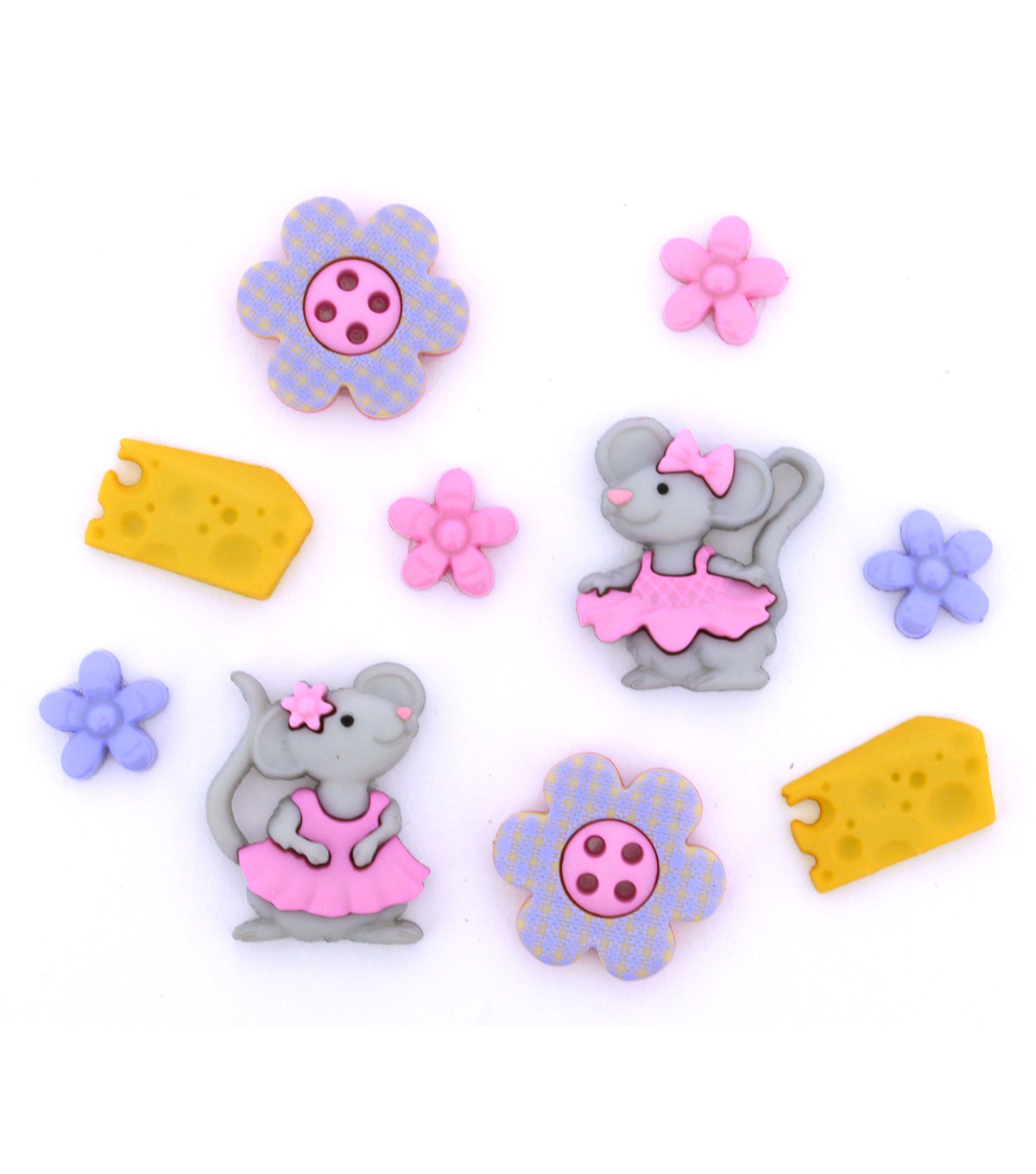 Jesse James Dress It Up Button Embellishments-The Mice Girls