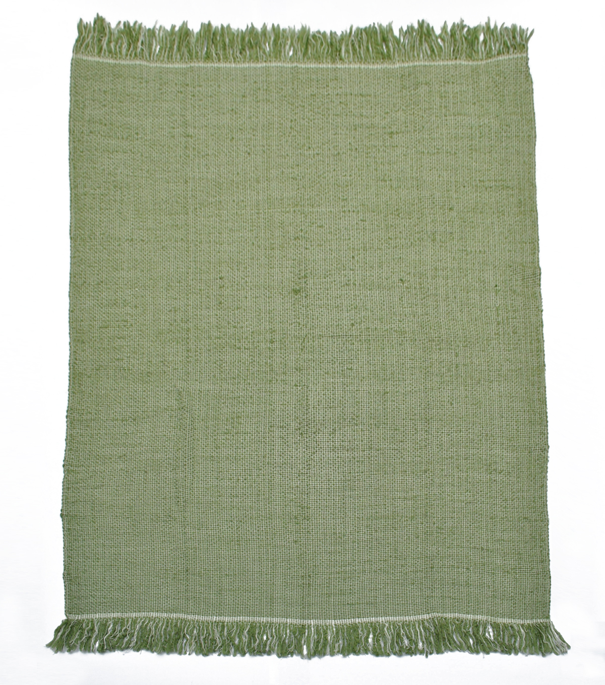 Simply Autumn 50\u0027\u0027x60\u0027\u0027 Textured Throw-Sage Green & White