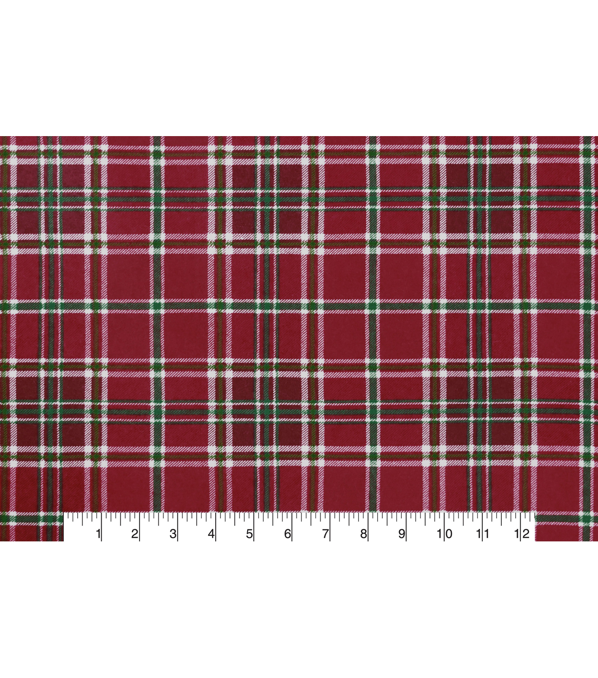 Snuggle Flannel Fabric -Holly Plaid