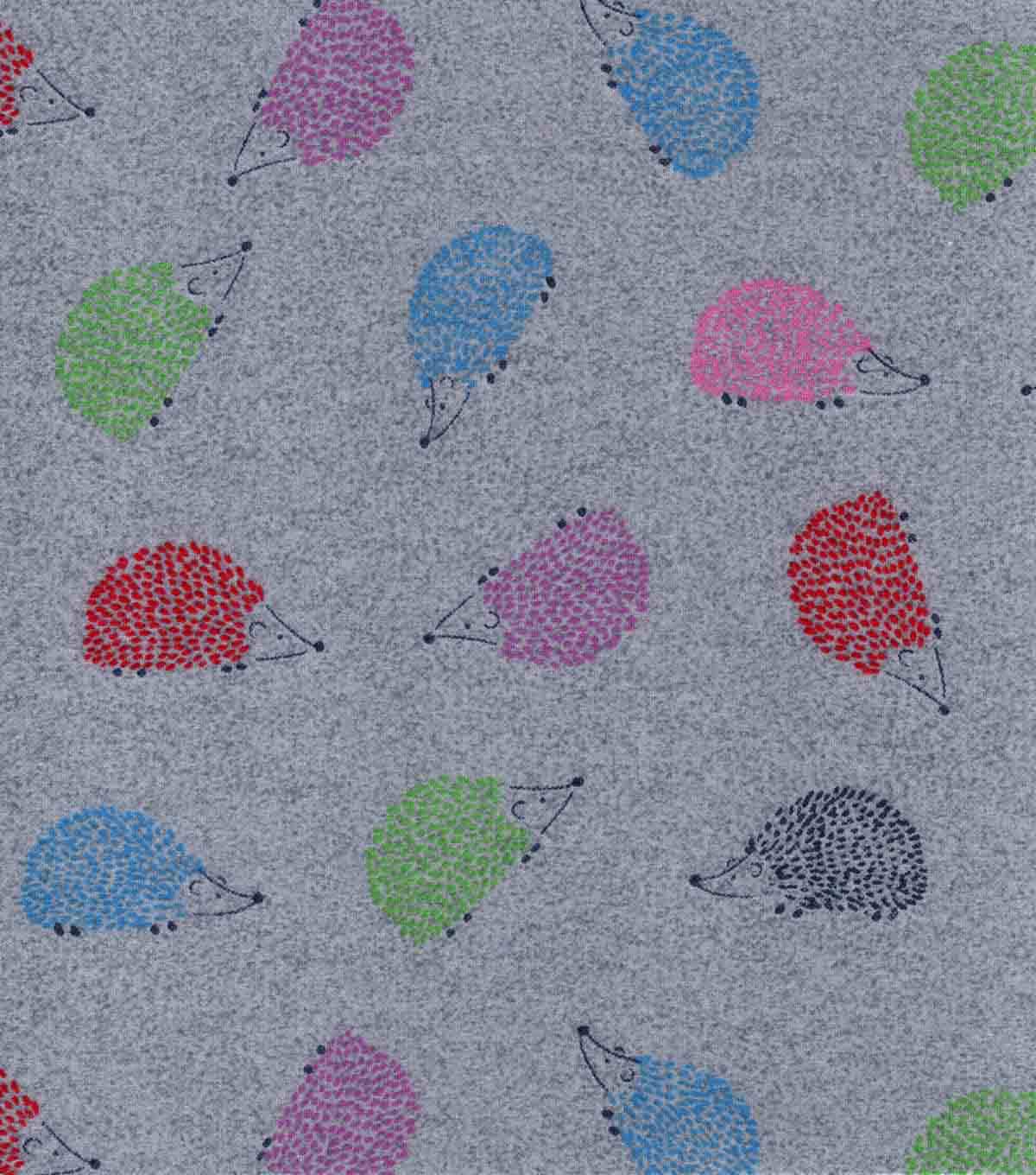 Luxe Flannel Fabric-Hedgehogs
