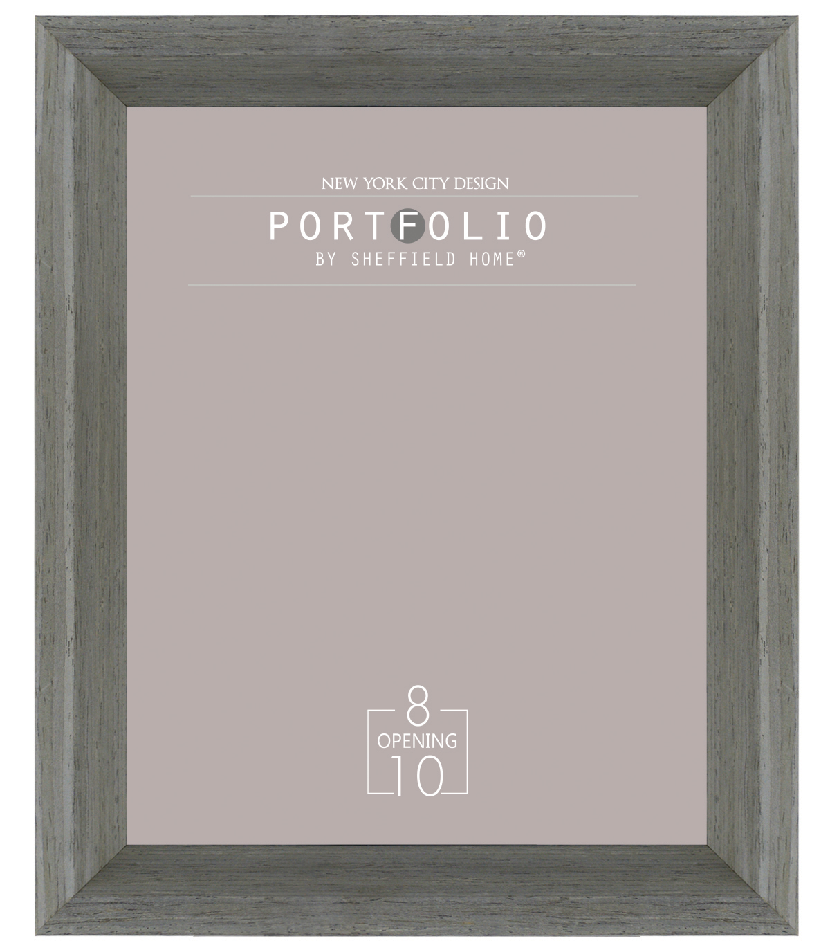Sheffield Home Portfolio Casual Rustic Deep Profile Frame 8\u0027\u0027x10\u0027\u0027-Gray
