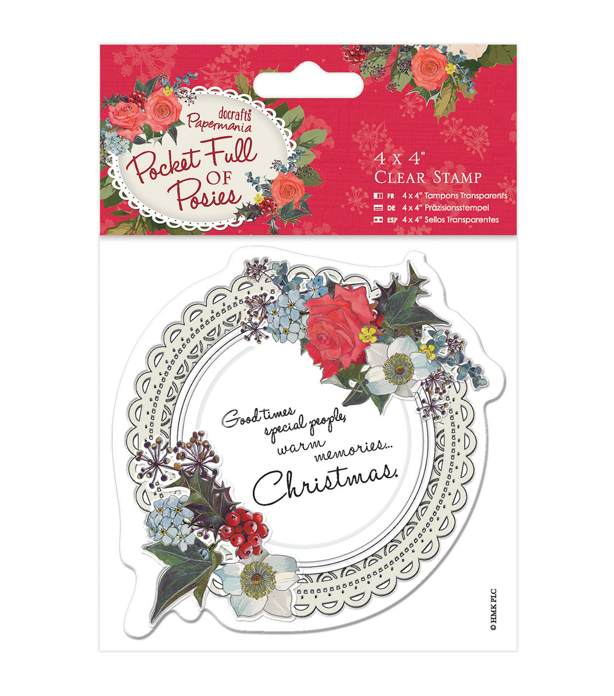 Papermania Pocket Full Of Posies Clear Stamps-Doily
