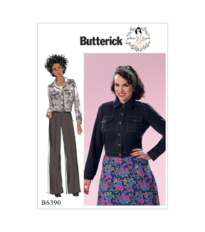 Butterick Pattern B6390 Misses\u0027 Jacket with Bust Pockets-Size 6-14