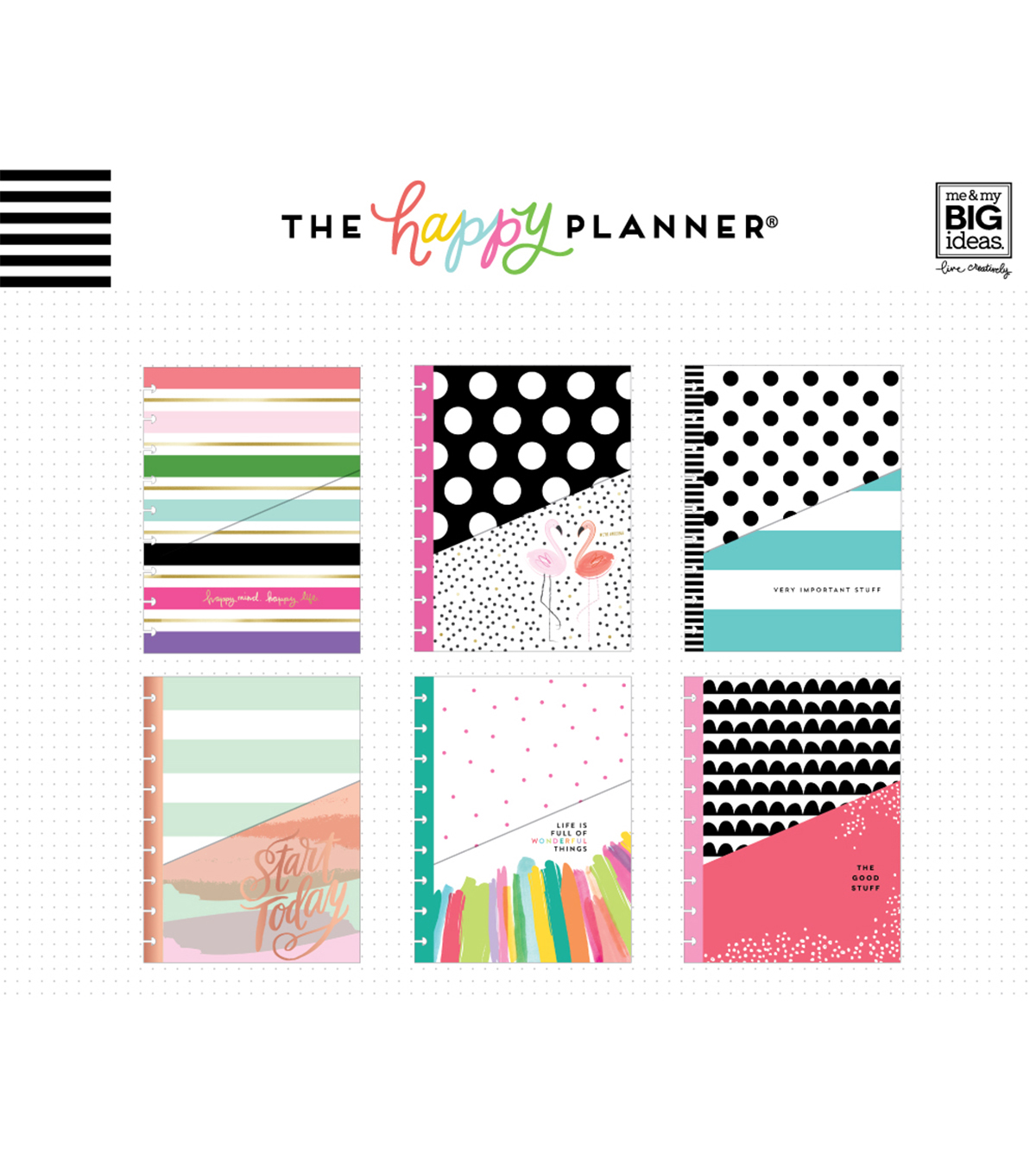 The Happy Planner Mini Pocket Folders-Stay Happy