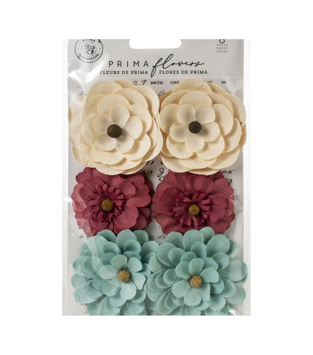 Prima Marketing Midnight Garden Vellum & Paper Flowers-Midnight Signals