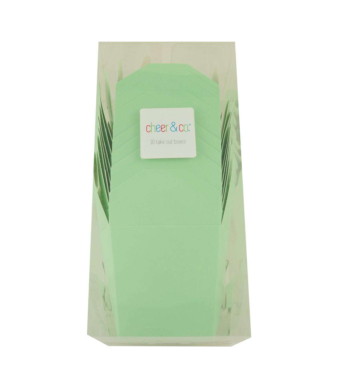Cheer & Co. 10 pk Take Out Boxes-Green