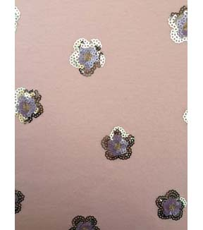 Doodles Juvenile Apparel Fabric 57\u0027\u0027-Sequin Flower on Pink