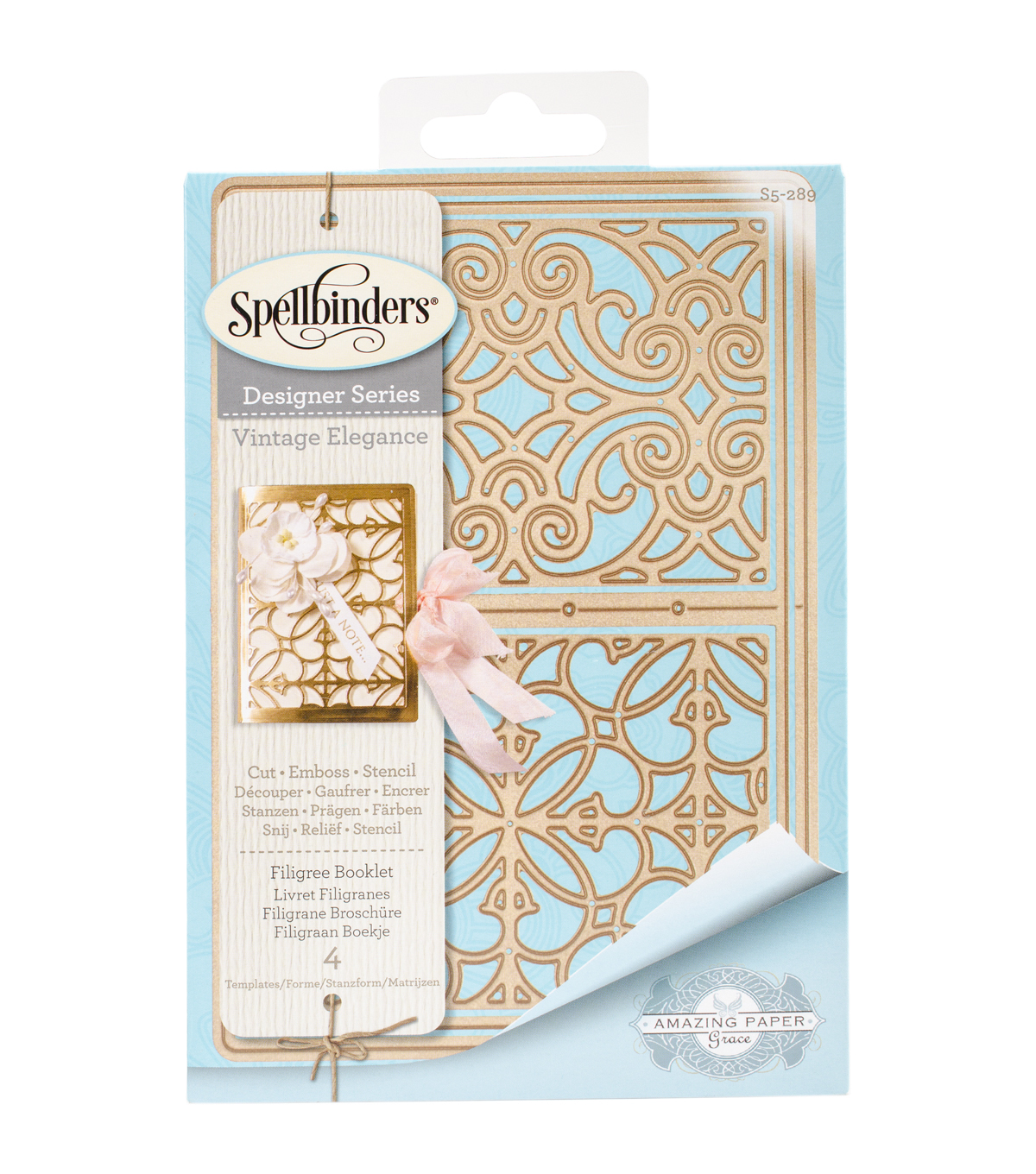 Spellbinders Shapeabilities Etched Die-Filigree Booklet