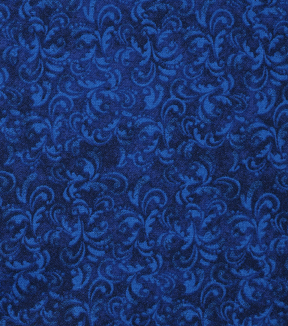 Keepsake Calico Cotton Fabric -Blue Lolite Textured Scroll