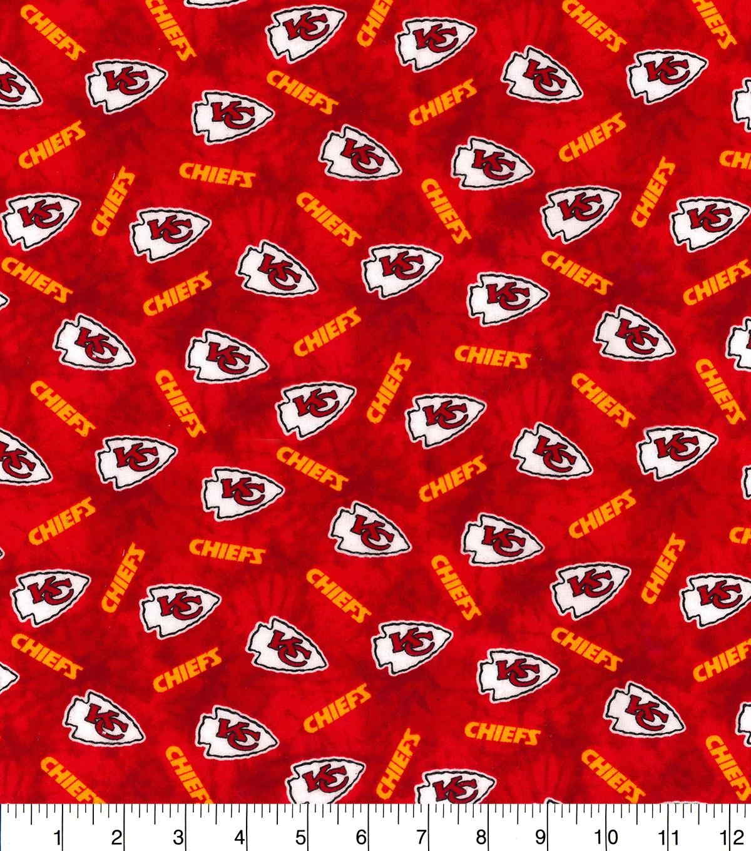 01bb80a27 Kansas City Chiefs Flannel Fabric-Tie Dye