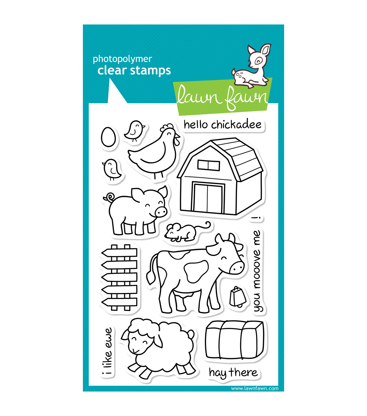 Lawn Fawn Clear Stamps 4\u0022X6\u0022-Critters On The Farm