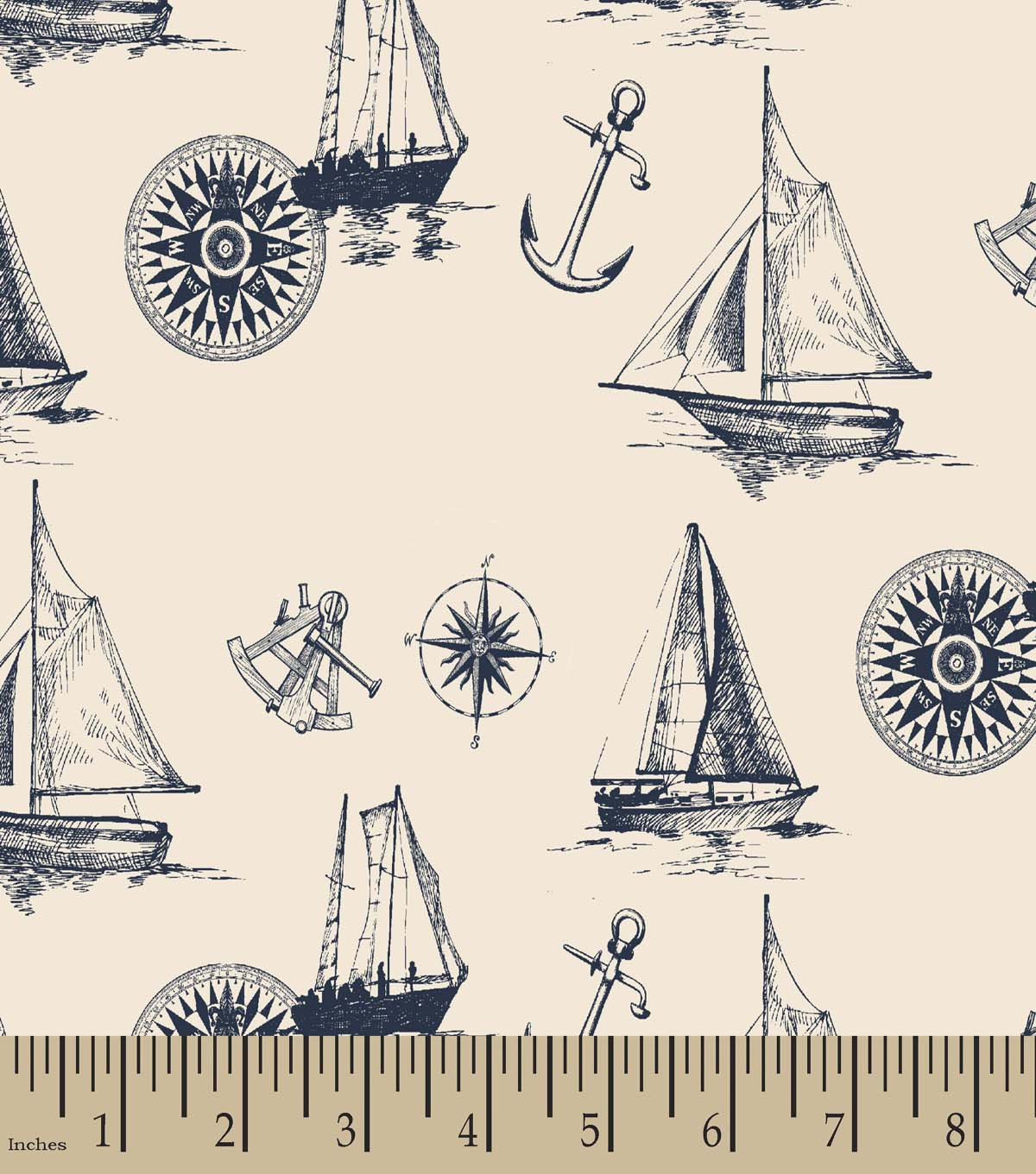 Nautical Print Fabric Joann