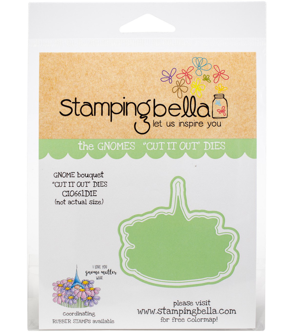 Stamping Bella Cut It Out Dies-Gnome Bouquet