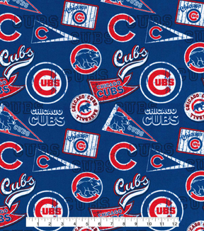 Chicago Cubs Cotton Fabric Vintage Joann