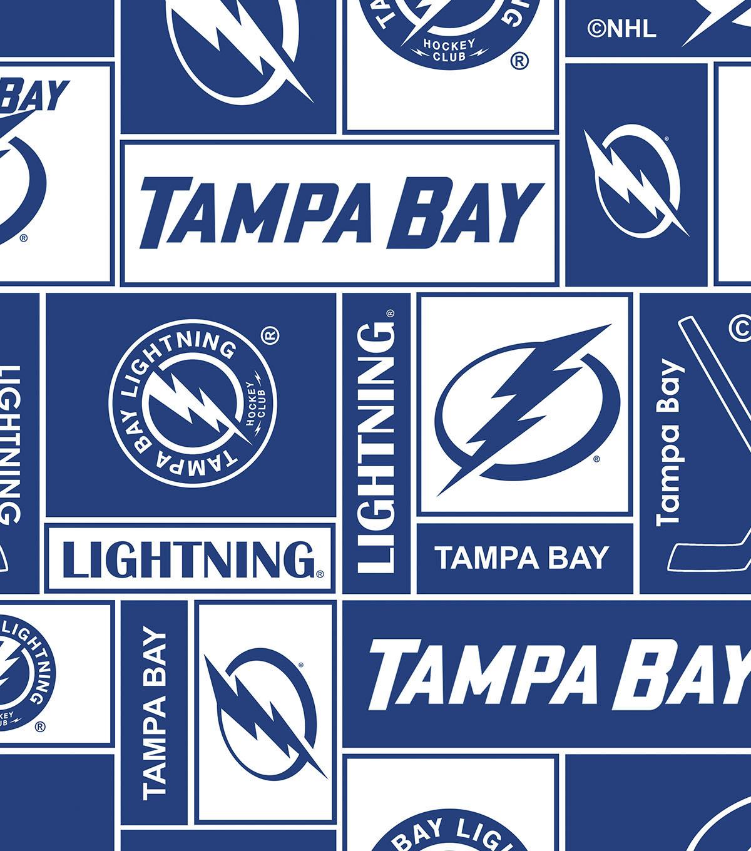 75328067 Tampa Bay Lightning Fleece Fabric 60''-Block