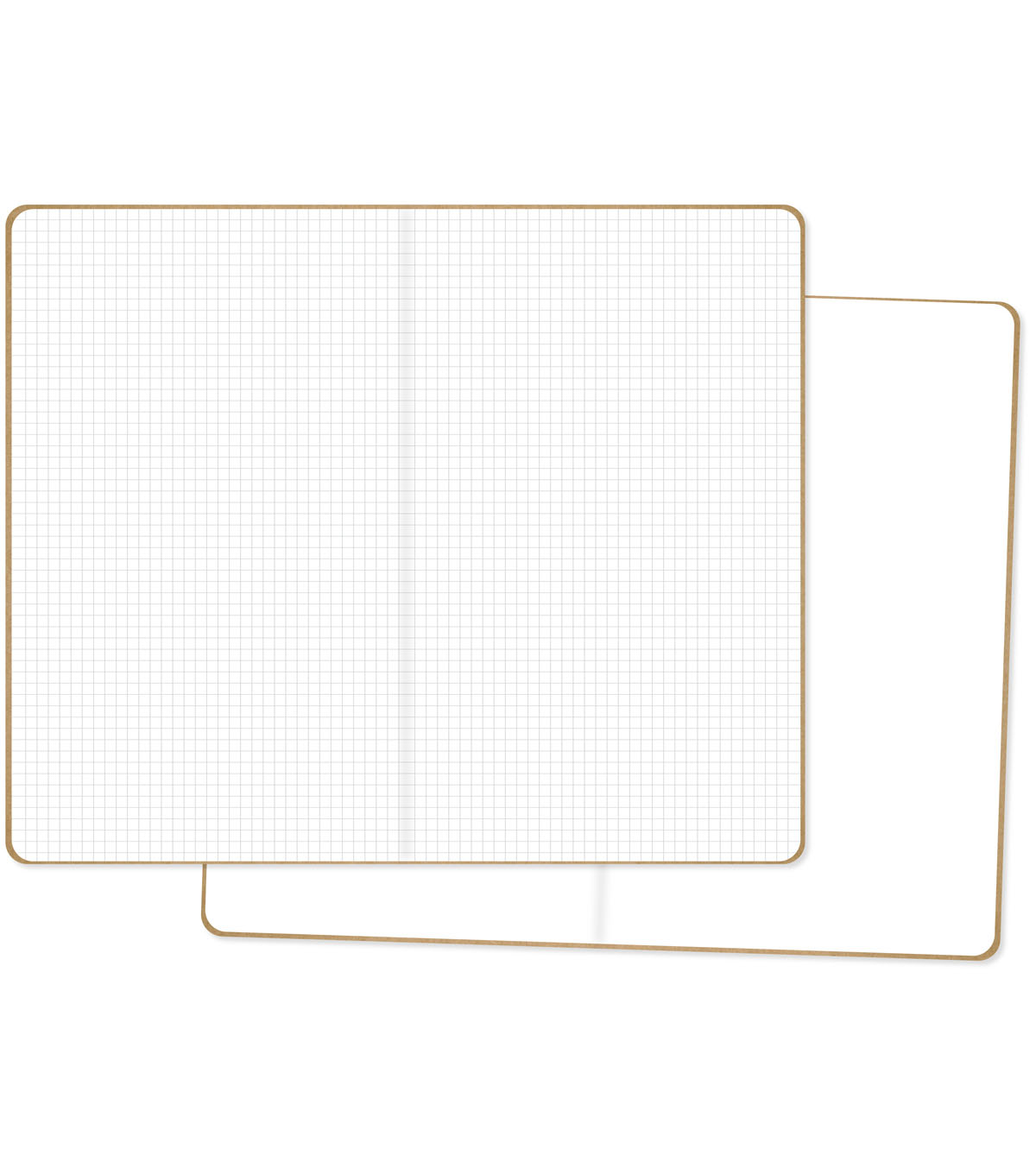 Carpe Diem Traveler\u0027s Notebook Inserts 2/Pkg-One Blank/One Grid