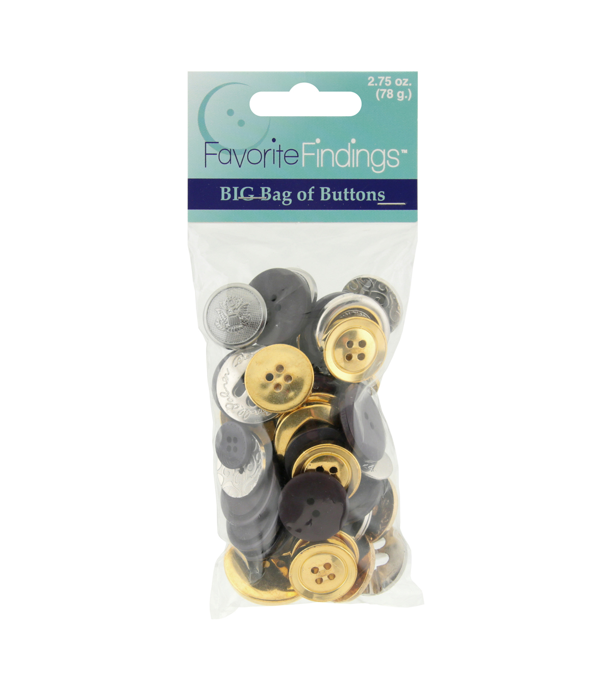 Favorite Findings 2.75 oz. Value Pack Buttons-Navy & Gold